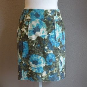 Anthropologie Skirts - Anthropologie 9 H15 Calabria Corduroy Floral Skirt